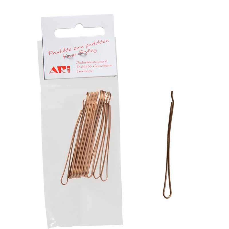 Mex pro Hair Haarklemmen 50 mm, Gold (10 Stück)