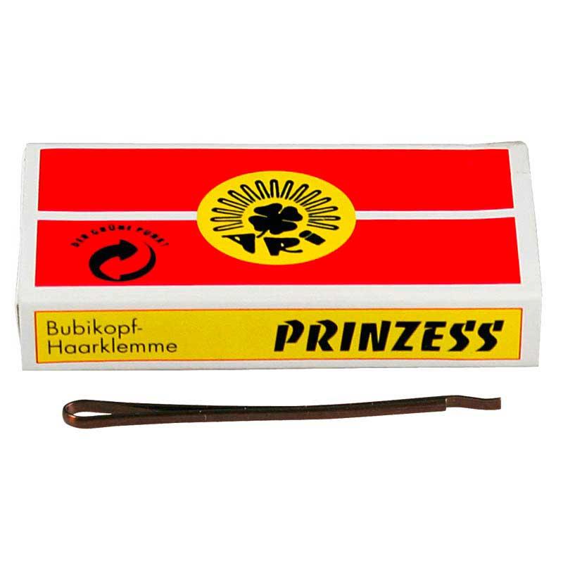 weitere Marken Prinzess Prinzess Haarklemme 50 mm Braun (12 Stück)