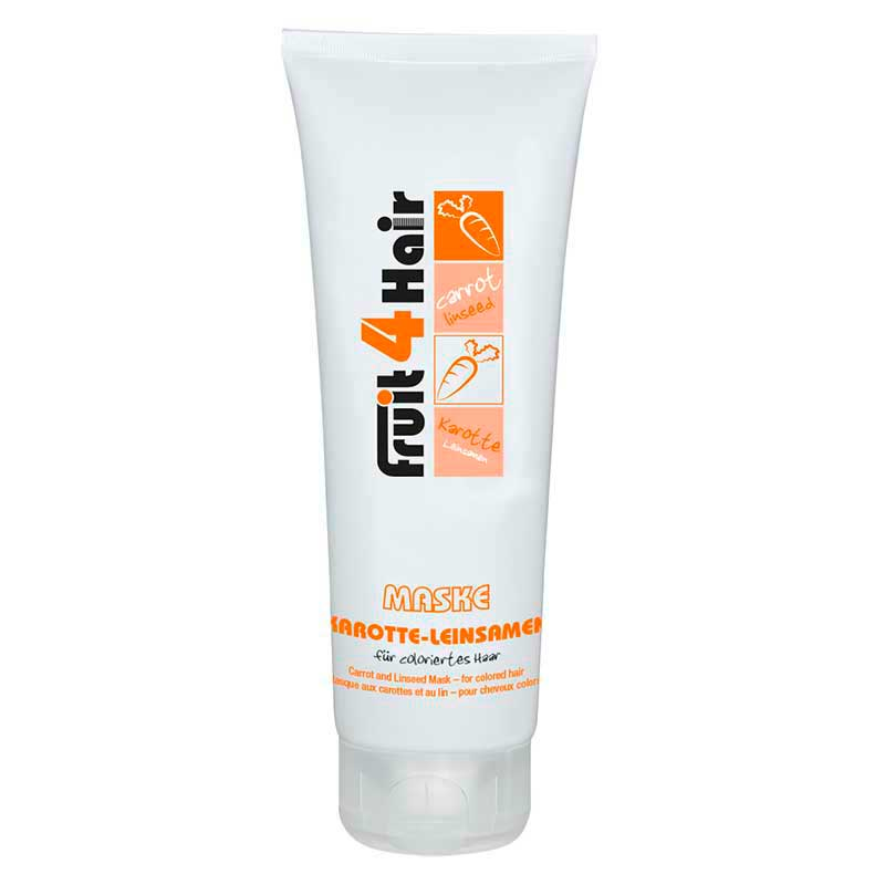 LOVE FOR HAIR Fruit 4 Hair Karotte-Leinsamen Maske für coloriertes Haar (250 ml)