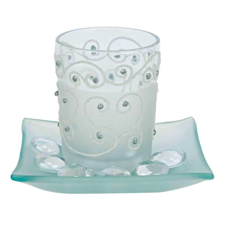 Dekoration & Zubehör Teelichtglas Orient, Weiß