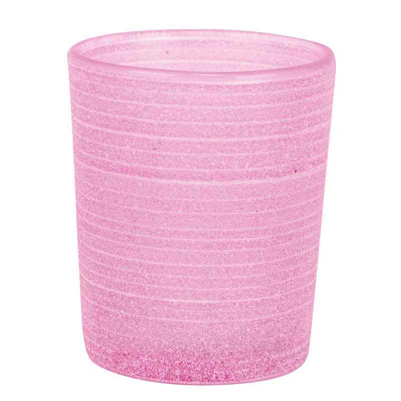 Dekoration & Zubehör Teelichtglas Frost, Pink