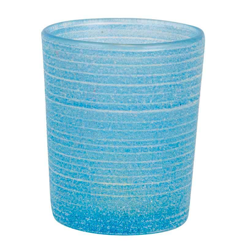 Dekoration & Zubehör Teelichtglas Frost, Blau