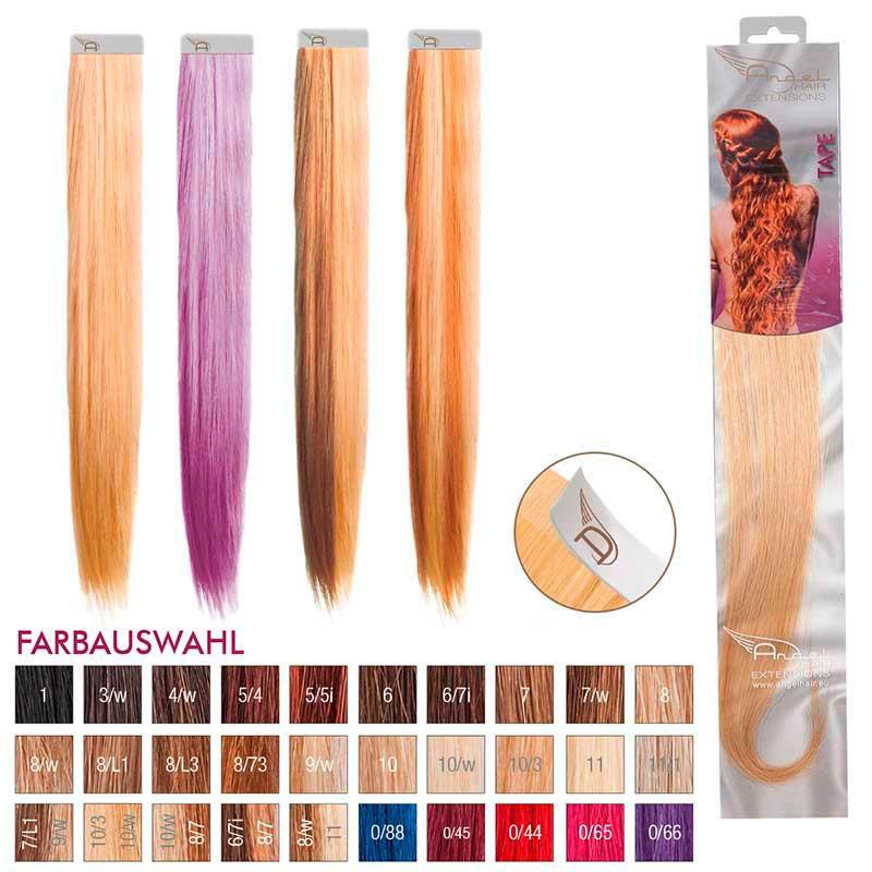 Angel Hair Tape Extension 9/w Lichtblond warm (4 Stück)