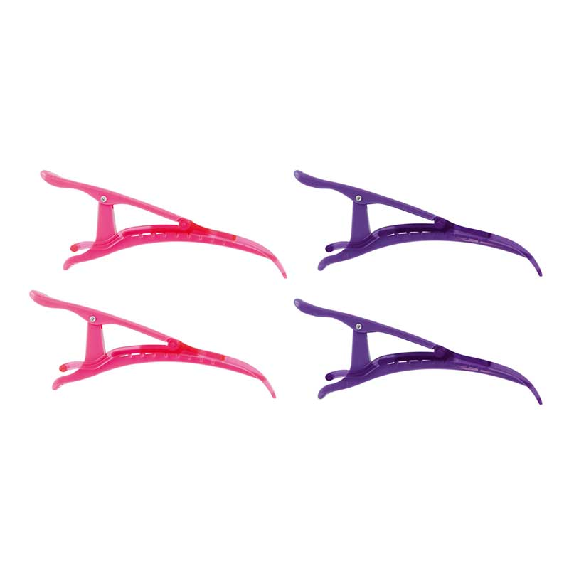 Mex pro Hair Haarclip Plastik Pack Pink und Lila (4 Stück)