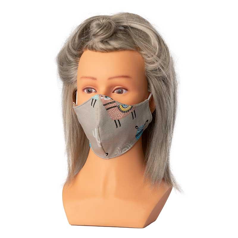 Mex pro Hair Mund/Nasenschutz Stoffmaske Lama KIDS