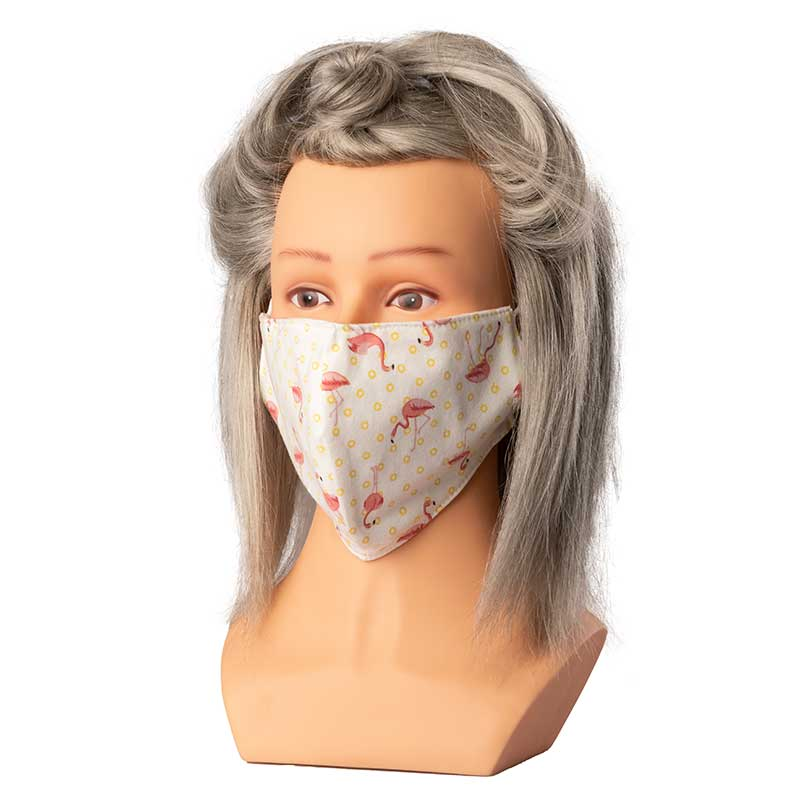 Mex pro Hair Mund/Nasenschutz Stoffmaske Flamingo