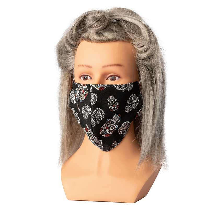 Mex pro Hair Mund/Nasenschutz Stoff Totenkopf bunt