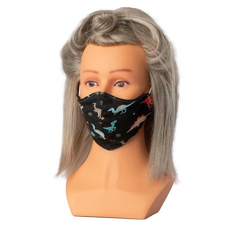 Mex pro Hair Mund/Nasenschutz Stoffmaske Dino KIDS