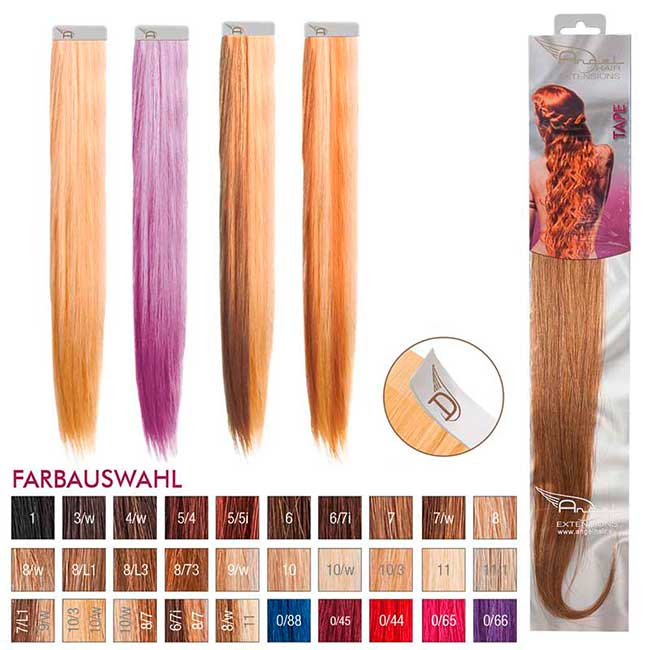 Angel Hair Tape Extension 8/w Hellblond warm (4 Stück)