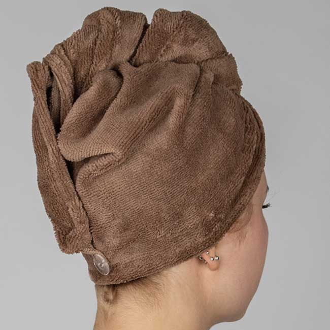 MEX Handtuch Turban Walnuss