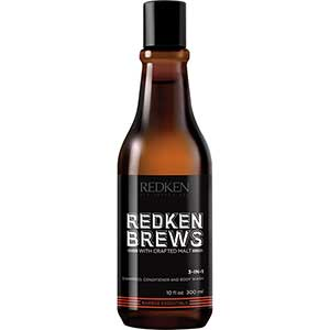 Redken Brews 3 in 1 Shampoo + Conditioner + Bodywash (300 ml)